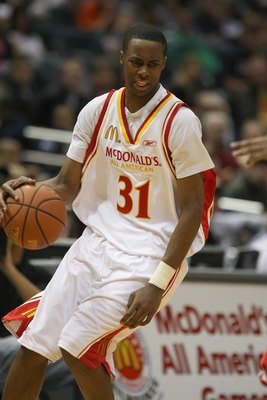 MILWAUKEE - MARCH 26:  Scotty Hopson #31 of the West team dribbles during the 2008 McDonald's All American High School Boys basketball game on March 26, 2008 at the Bradley Center in Milwaukee, Wisconsin. (Photo by Jonathan Daniel/Getty Images)