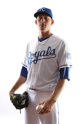 SURPRISE, AZ - FEBRUARY 23:  Mike Montgomery #65 of the Kansas City Royals poses for a portrait during Spring Training Media Day on February 23, 2011 at Surprise Stadium in Surprise, Arizona..  (Photo by Jonathan Ferrey/Getty Images)