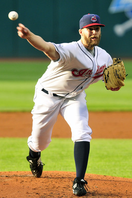 CLEVELAND, OH - JUNE 3: Justin Masterson #63 of the Cleveland Indians pitches during the first inning against the Texas Rangers at Progressive Field on June 3, 2011 in Cleveland, Ohio.  (Photo by Jason Miller/Getty Images)