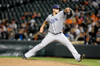 BALTIMORE, MD - MAY 06:  James Shields #33 of the Tampa Bay Rays pitches against the Baltimore Orioles at Oriole Park at Camden Yards on May 6, 2011 in Baltimore, Maryland.  (Photo by Greg Fiume/Getty Images)