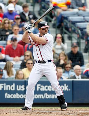 ATLANTA, GA - MAY 17:  Dan Uggla #26 of the Atlanta Braves against the Houston Astros at Turner Field on May 17, 2011 in Atlanta, Georgia.  (Photo by Kevin C. Cox/Getty Images)