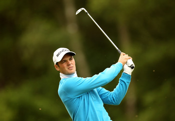 VIRGINIA WATER, ENGLAND - MAY 28:  Martin Kaymer of Germany tees off during the third round of the BMW PGA Championship at the Wentworth Club on May 28, 2011 in Virginia Water, England.  (Photo by Ian Walton/Getty Images)
