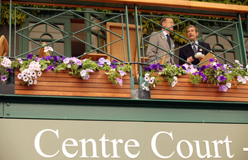 LONDON, ENGLAND - JUNE 21:  General views around Centre Court on Day One of the Wimbledon Lawn Tennis Championships at the All England Lawn Tennis and Croquet Club on June 21, 2010 in London, England.  (Photo by Oli Scarff/Getty Images)