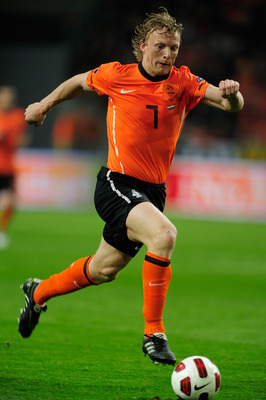 AMSTERDAM, NETHERLANDS - MARCH 29:  Dirk Kuyt of the Netherlands in action during the Group E, EURO 2012 Qualifier between Netherlands and Hungary at the Amsterdam Arena on March 29, 2011 in Amsterdam, Netherlands.  (Photo by Jamie McDonald/Getty Images)