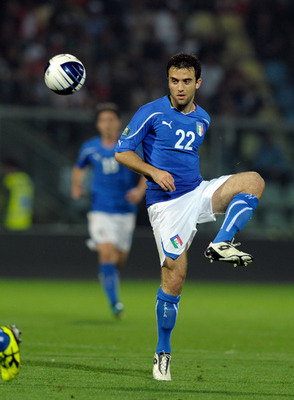 MODENA, ITALY - JUNE 03:  Giuseppe Rossi of Italy during the UEFA EURO 2012 Group C qualifying match between Italy and Estonia on June 3, 2011 in Modena, Italy.  (Photo by Claudio Villa/Getty Images)