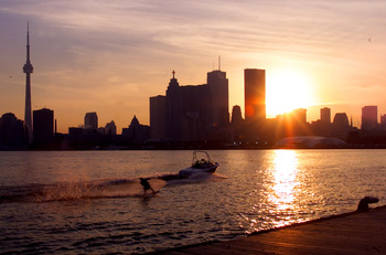 391776 03: (FILE PHOTO) The sun sets over the Toronto skyline in his undated file photo. The International Olympic Committee (IOC) meets in Moscow July 13, 2001 to decide between front runners Beijing, Paris and Toronto for the site of the 2008 summer Oly