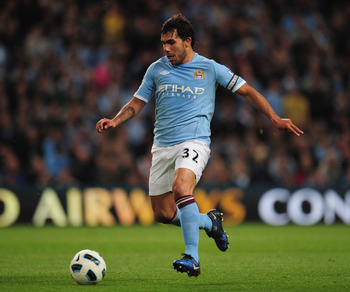 MANCHESTER, ENGLAND - MAY 17:  Carlos Tevez of Manchester City in action during the Barclays Premier League match between Manchester City and Stoke City at City of Manchester Stadium on May 17, 2011 in Manchester, England.  (Photo by Shaun Botterill/Getty