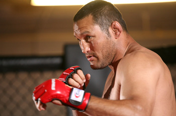 HOLLYWOOD - MARCH 17:  Legendary MMA Superstar and two time Olympic Wrestler Dan Henderson attends the CBS' Strikeforce MMA Fighters Open Media Workout on March 17, 2010 in Hollywood, California.  (Photo by Valerie Macon/Getty Images)
