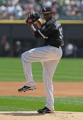 CHICAGO, IL - MAY 22:  Starting pitcher Edwin Jackson #33 of the Chicago White Sox delivers the ball against the Los Angeles Dodgers at U.S. Cellular Field on May 22, 2011 in Chicago, Illinois. The White Sox defeated the Dodgers 8-3.  (Photo by Jonathan D