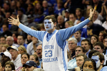 CHARLOTTE, NC - MARCH 20:  A North Carolina Tar Heels reacts while the Tar Heels take on the Washington Huskies during the third round of the 2011 NCAA men's basketball tournament at Time Warner Cable Arena on March 20, 2011 in Charlotte, North Carolina.