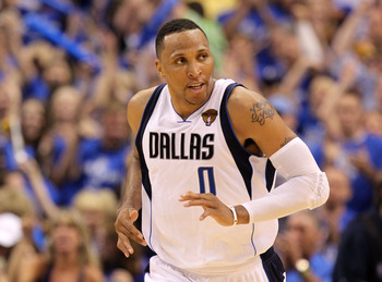 DALLAS, TX - JUNE 05:  Shawn Marion #0 of the Dallas Mavericks looks on while taking on the Miami Heat in Game Three of the 2011 NBA Finals at American Airlines Center on June 5, 2011 in Dallas, Texas.  NOTE TO USER: User expressly acknowledges and agrees