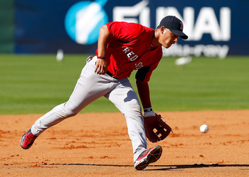 FORT MYERS, FL - FEBRUARY 19:  Infielder Jose Iglesias #76 of the Boston Red Sox fields a ground ball during a Spring Training Workout Session at the Red Sox Player Development Complex on February 19, 2011 in Fort Myers, Florida.  (Photo by J. Meric/Getty