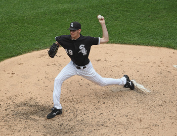 CHICAGO, IL - MAY 22:  Chris Sale #49 of the Chicago White Sox pitches against the Los Angeles Dodgers at U.S. Cellular Field on May 22, 2011 in Chicago, Illinois. The White Sox defeated the Dodgers 8-3.  (Photo by Jonathan Daniel/Getty Images)
