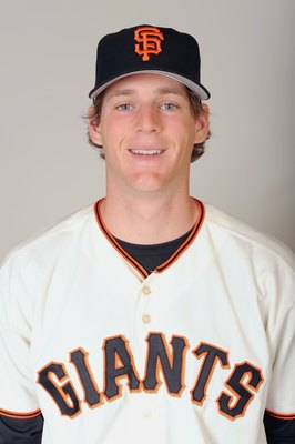 SCOTTSDALE, ARIZONA - FEBRUARY 23:  Conor Gillaspie of the San Francisco Giants poses during photo day at Scottsdale Stadium on February 23, 2009 in Scottsdale, Arizona. (Photo by: Harry How/Getty Images)