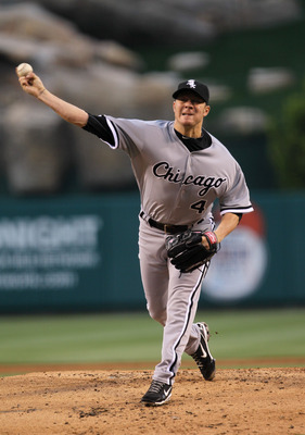ANAHEIM, CA - MAY 11: Jake Peavy #44 of the Chicago White Sox throws a pitch against the Los Angeles Angels of Anaheim on May 11, 2011 at Angel Stadium in Anaheim, California.   (Photo by Stephen Dunn/Getty Images)