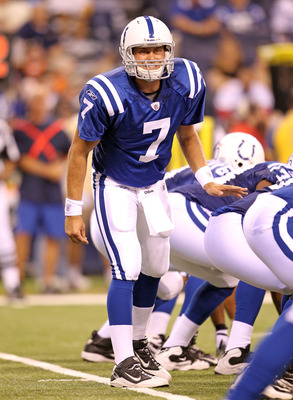 Curtis Painter quarterbacks the Colts in preseason action.