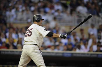 MINNEAPOLIS, MN - MAY 23: Jim Thome #25 of the Minnesota Twins bats against the Seattle Mariners during their game on May 23, 2011 at Target Field in Minneapolis, Minnesota. The Rockies won 6-5. (Photo by Hannah Foslien/Getty Images)