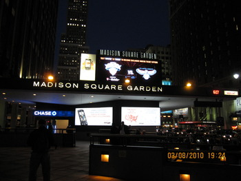 Outside Madison Square Garden