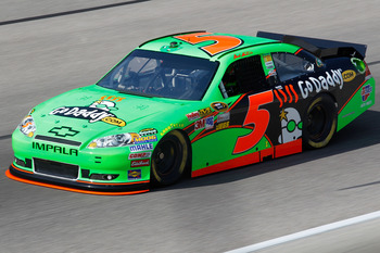 FORT WORTH, TX - APRIL 07:  Mark Martin, driver of the #5 GoDaddy.com Chevrolet, practices for the NASCAR Sprint Cup Series Samsung Mobile 500 at Texas Motor Speedway on April 7, 2011 in Fort Worth, Texas.  (Photo by Todd Warshaw/Getty Images for NASCAR)