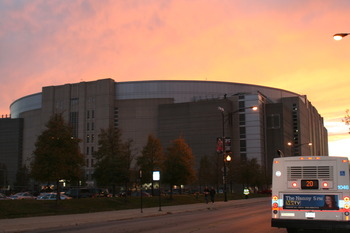 Sunset on the United Center