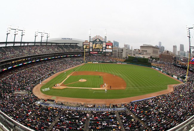 DETROIT, MI - JUNE 10:  A wide view of Comerica Park during a MLB game between the Detroit Tigers and the Seattle Mariners on June 10, 2011 in Detroit, Michigan.  Seattle defeated Detroit 3-2. (Photo by Dave Reginek/Getty Images)