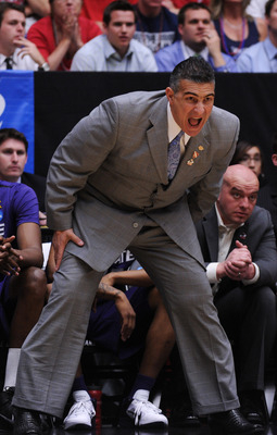 TUCSON, AZ - MARCH 19:  Head coach Frank Martin of the Kansas State Wildcats coaches his team against the Wisconsin Badgers in the first half during the third round of the 2011 NCAA men's basketball tournament at McKale Center on March 19, 2011 in Tucson,