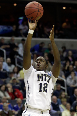 WASHINGTON - MARCH 19:  Ashton Gibbs #12 of the Pittsburgh Panthers puts up a shot against the Butler Bulldogs during the third round of the 2011 NCAA men's basketball tournament at Verizon Center on March 19, 2011 in Washington, DC.  (Photo by Rob Carr/G