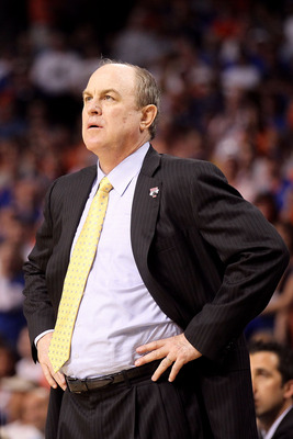 TAMPA, FL - MARCH 19:  Head coach Ben Howland of the UCLA Bruins looks on against the Florida Gators during the third round of the 2011 NCAA men's basketball tournament at St. Pete Times Forum on March 19, 2011 in Tampa, Florida. Florida won 73-65. (Photo