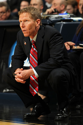 DENVER, CO - MARCH 19:  Head coach Mark Few of the Gonzaga Bulldogs looks on from the bench against the Brigham Young Cougars during the third round of the 2011 NCAA men's basketball tournament at Pepsi Center on March 19, 2011 in Denver, Colorado.  (Phot