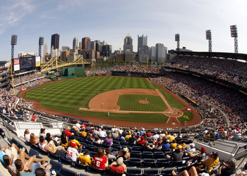 PITTSBURGH, PA - JUNE 05:  A view of PNC Park during the game between the Philadelphia Phillies and the Pittsburgh Pirates on June 5, 2011 at PNC Park in Pittsburgh, Pennsylvania.  (Photo by Justin K. Aller/Getty Images)