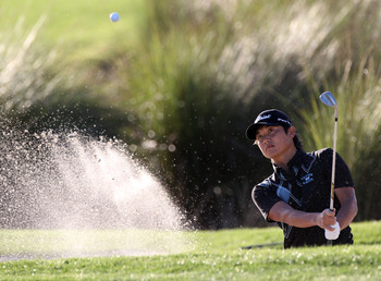 PALM BEACH GARDENS, FL - MARCH 04:  Ryuji Imada hits a shot during the second round of The Honda Classic at PGA National Resort and Spa on March 4, 2011 in Palm Beach Gardens, Florida.  (Photo by Sam Greenwood/Getty Images)