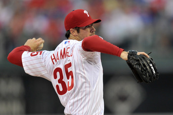 PHILADELPHIA, PA - MAY 23: Starting pitcher Cole Hamels #35 of the Philadelphia Phillies delivers a pitch during the game against the Cincinnati Reds at Citizens Bank Park on May 23, 2011 in Philadelphia, Pennsylvania. (Photo by Drew Hallowell/Getty Image