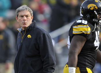 Head coach Kirk Ferentz will be entering his 13th season at the helm for the Hawkeyes this fall.