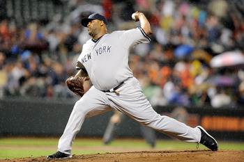 BALTIMORE, MD - MAY 19:  C.C. Sabathia #52 of the New York Yankees pitches against the Baltimore Orioles at Oriole Park at Camden Yards on May 19, 2011 in Baltimore, Maryland.  (Photo by Greg Fiume/Getty Images)