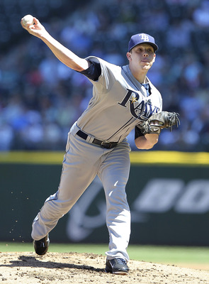 SEATTLE - JUNE 04:  Starting pitcher Jeremy Hellickson #58 of the Tampa Bay Rays pitches against the Seattle Mariners at Safeco Field on June 4, 2011 in Seattle, Washington. (Photo by Otto Greule Jr/Getty Images)