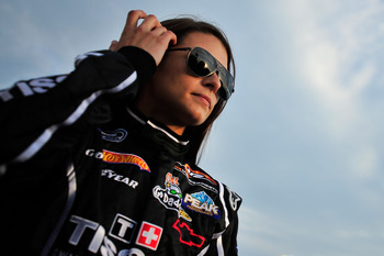 JOLIET, IL - JUNE 4: Danica Patrick, driver of the #7 Tissot/GoDaddy.com Chevrolet, stands on the grid during the NASCAR Nationwide Series STP 300 at Chicagoland Speedway on June 4, 2011 in Joliet, Illinois. (Photo by Jason Smith/Getty Images for NASCAR)