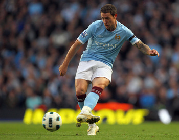 MANCHESTER, ENGLAND - OCTOBER 24:  Wayne Bridge of Manchester City in action during the Barclays Premier League match between Manchester City and Arsenal at City of Manchester Stadium on October 24, 2010 in Manchester, England.  (Photo by Clive Rose/Getty
