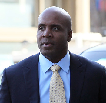 SAN FRANCISCO, CA - APRIL 12:  Former Major League Baseball player Barry Bonds arrives at federal court on April 12, 2011 in San Francisco, California.  The jury is deliberating for the third day in the Barry Bonds perjury trial where the former baseball