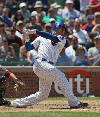 CHICAGO, IL - JUNE 01: Carlos Pena #22 of the Chicago Cubs takes a swing against the Houston Astros at Wrigley Field on June 1, 2011 in Chicago, Illinois. The Astros defeated the Cubs 3-1.  (Photo by Jonathan Daniel/Getty Images)