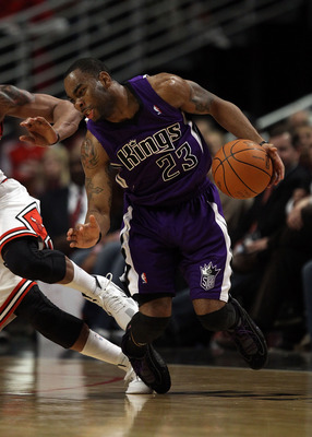 CHICAGO, IL - MARCH 21: Marcus Thornton #23 of the Sacramento Kings moves against the Chicago Bulls at the United Center on March 21, 2011 in Chicago, Illinois. The Bulls defeated the Kings 132-92. NOTE TO USER: User expressly acknowledges and agrees that
