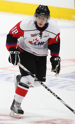 TORONTO, CAN - JANUARY 19:  Vladislav Namestnikov #18 of Team Orr skates against Team Cherry in the 2011 Home Hardware Top Prospects game on January 19, 2011 at the Air Canada Centre in Toronto, Canada. Team Orr defeated Team Cherry 7-1. (Photo by Claus A