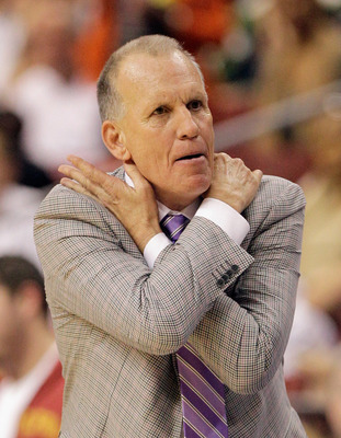 PHILADELPHIA, PA - APRIL 21: Head coach Doug Collins of the Philadelphia 76ers reacts to an officials call during the second half of game three of the Eastern Conference Quarterfinals against the Miami Heat at Wells Fargo Center on April 21, 2011 in Phila