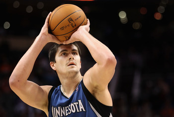 PHOENIX - DECEMBER 15:  Darko Milicic #31 of the Minnesota Timberwolves shoots a free throw shot against the Phoenix Suns during the NBA game at US Airways Center on December 15, 2010 in Phoenix, Arizona. The Suns defeated the Timberwolves 128-122. NOTE T