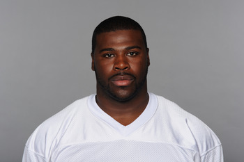 MIAMI, FL - CIRCA 2010: In this handout image provided by the NFL,  Donald Thomas of the Miami Dolphins poses for his 2010 NFL headshot circa 2010 in Miami, Florida. (Photo by NFL via Getty Images)