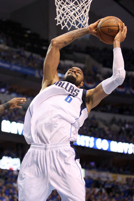 DALLAS, TX - JUNE 07:  Tyson Chandler #6 of the Dallas Mavericks attempts a dunk against the Miami Heat in Game Four of the 2011 NBA Finals at American Airlines Center on June 7, 2011 in Dallas, Texas. NOTE TO USER: User expressly acknowledges and agrees