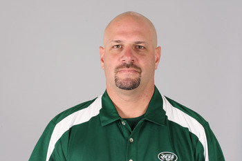 FLORHAM PARK, NJ - CIRCA 2010: In this handout image provided by the NFL, Mike Pettine of the New York Jets poses for his 2010 NFL headshot circa 2010 in Florham Park, New Jersey. (Photo by NFL via Getty Images)