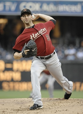 SAN DIEGO, CA-JUNE 3: J.A. Happ #30 of the Houston Astros pitches during the first inning of a baseball game against the San Diego Padres at Petco Park on June 3, 2011 in San Diego, California.  (Photo by Denis Poroy/Getty Images)