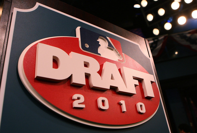 SECAUCUS, NJ - JUNE 07:  The draft podium is seen prior to the start of the MLB First Year Player Draft on June 7, 2010 held in Studio 42 at the MLB Network in Secaucus, New Jersey.  (Photo by Mike Stobe/Getty Images)