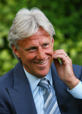 LONDON - JULY 04:  Bjorn Borg, the former five-time Wimbledon champion, poses for a picture on day eleven of the Wimbledon Lawn Tennis Championships at the All England Lawn Tennis and Croquet Club on July 4, 2008 in London, England.  (Photo by Julian Finn