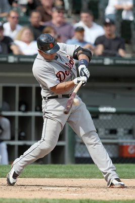 CHICAGO - JUNE 08:  Miguel Cabrera #24 of the Detroit Tigers swings at the pitch against the Chicago White Sox on June 8, 2009 at U.S. Cellular Field in Chicago, Illinois. (Photo by Jonathan Daniel/Getty Images)